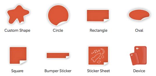 custom shape sticker printing service whizz prints