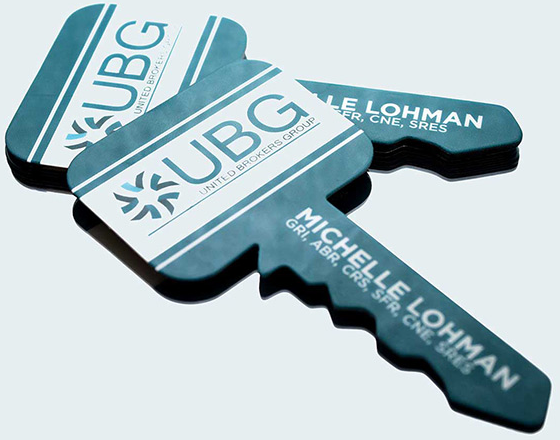 shaped business cards