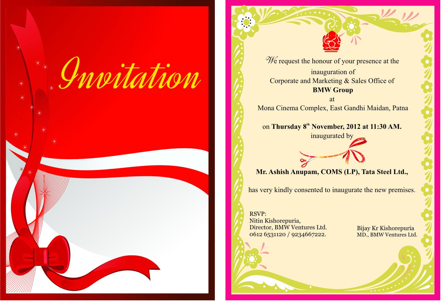 Clinic Opening Invitation Card Matter - Premium Invitation Template Design | Bliss Escape