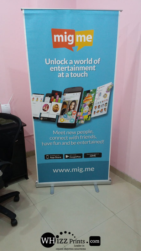 Roll up standees starts from Rs 1095/- | Whizz Prints