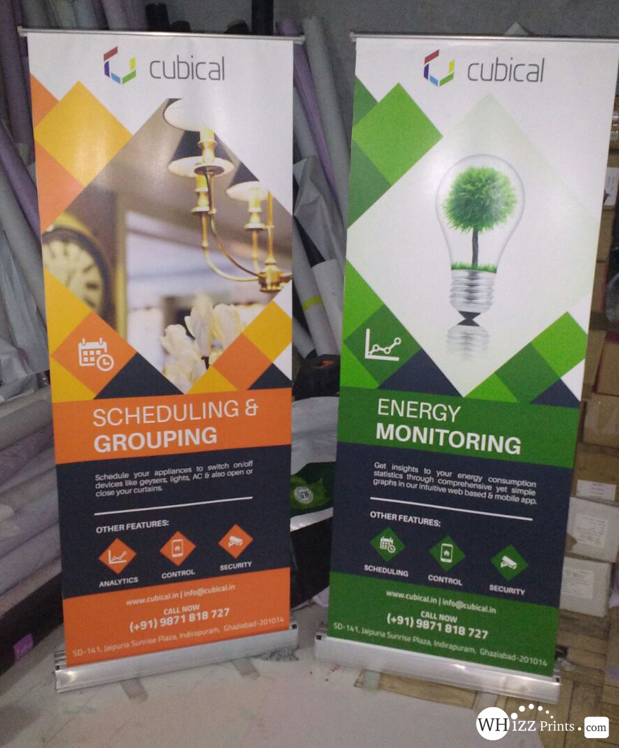 Roll Up Standees Starts From Rs 1150 Whizz Prints